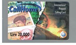 ITALIA (ITALY) - REMOTE -  CALL HOME - BANKNOTES -    USED - RIF. 10935 - Schede GSM, Prepagate & Ricariche
