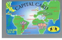 ITALIA (ITALY) - REMOTE -  I.T.S.  - CAPITAL CARD, WORLD MAP 5,15 EURO -    USED - RIF. 10936 - Italy