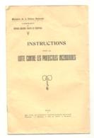 """"""" Instructions Lutte Contre Projectiles Incendiaires """" - Ministère Défense Nationale 1935 - Défense Aérienne - Guerre - Livres"""