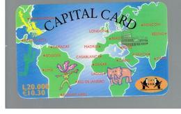 ITALIA (ITALY) - REMOTE -  I.T.S.  - CAPITAL CARD, WORLD MAP 10,30 EURO -    USED - RIF. 10936 - Schede GSM, Prepagate & Ricariche