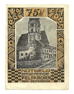 1920 - Austria - Feldkirchen Notgeld N10, - Autriche