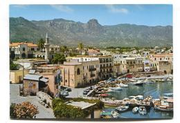 Kyrenia - General View, Harbour, Cars - C. Early 1970's Modern-size Postcard - Cyprus