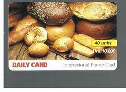 ITALIA (ITALY) - REMOTE -  DAILY CARD -  FOOD 10.000           - USED - RIF. 10939 - Italy