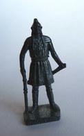 FIGURINE KINDER  METAL  INDIEN I - 1 TECUMSEH Fer - KRIEGER Berümmte Indianer-Häuptlinge (2) Made In Italy - Figurines En Métal
