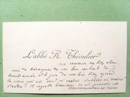 07 ,saint Barthélemy Le Plain...carte De Visite...l'abbé R. Théoulier  ......dim..9,5 Cm Par 6 Cm - Other Municipalities