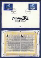 """1998 Belgique Mi 2807 + Rep Francaise Mi 3284 Card / Carte - """"Le Retour"""" / """"The Return"""" - René Magritte (1898-1967) - Gezamelijke Uitgaven"""