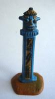 FIGURINE CLAIRET -  INDIEN TOTEM   Bleu ACC11  Complet Avec Socle - Armee