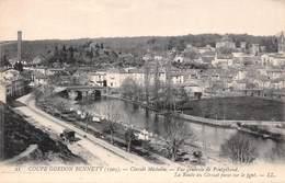 Coupe Gordon Bennett 1905 - Circuit Michelin - Vue Générale De Pontgibaud - La Route Du Circuit Passe Sur Le Pont (63) - Francia