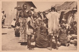 MALANVILLE   DAHOMEY     SCENE DU MARCHE    TB PLAN RARE - Benin
