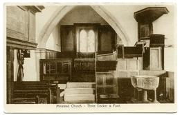 MINSTEAD CHURCH : THREE DECKER & FONT - Autres