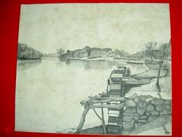 Vue De La Vallée Du Nil (Egypte)  .Encre De Chine Signée Pillu - Drawings