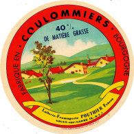 J C O  379 -ETIQUETTE DE FROMAGE - COULOMMIERS  LAITERIE POUTHIER   GIGNY SUR SAONE FABRIQUE EN  BOURGOGNE - Cheese