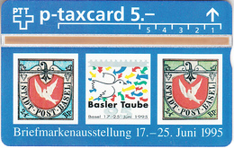 SUISSE - PHONE CARD - TAXCARD-PRIVÉE ***  TIMBRES & JUNAPHILEX 95  *** - Switzerland