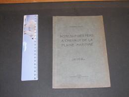 Georges HASSE - NOTE SUE LES FERS A CHEVAUX DE LA PLAINE MARITIME - ANVERS 1923 - Belgium
