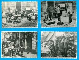Aisne Guerre 14/18 - SAINT QUENTIN Enlèvement Tableaux Archives Livres Vivres - 4 Photos - Voir Scans - Lieux