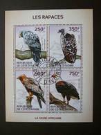 Birds Vögel Des Oiseaux Rapaces # Ivory Coast # 2014 Used S/s # Eagles & Birds Of Prey - Eagles & Birds Of Prey