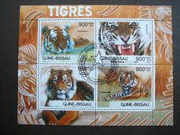 Tigers.Tiger.Tigres # Guinea-Bissau # 2012 Used S/s # Big Cats (cats Of Prey) - Big Cats (cats Of Prey)