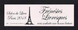Marque Page.  Salon Du Livre Paris 2018. - Bookmarks