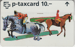 SUISSE - PHONE CARD - TAXCARD-PRIVÉE - W ***  CSI & CHEVAUX *** - Switzerland