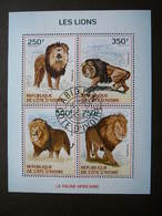 Pantheras Lions. Löwen # Ivory Coast  # 2014 Used S/s # Mammals Animals - Big Cats (cats Of Prey)
