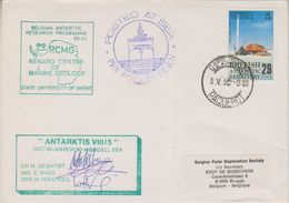 British Antarctic Territory 1990 Belgian Antarctic Research Programme 3 Sign. Cover (38397) - Brits Antarctisch Territorium  (BAT)