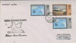 South Georgia 1987 King Edward Point Ca 31 Jl 1987 Cover (38398) - Brits Antarctisch Territorium  (BAT)