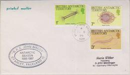 British Antarctic Territory 1986 RRS John Biscoe Antarctic Season 1986-1987 Ca De 5 86 Signy Cover  (38400) - Brits Antarctisch Territorium  (BAT)