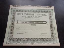 Commerciale Et Industrielle Pour La France Et Les Pays D'orient (1921) - Shareholdings