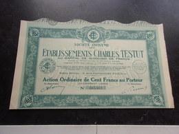 établissements Charles TESTUT (1932) - Shareholdings