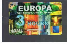 ITALIA (ITALY) - REMOTE -  EUROPA 10.000, 3 HOURS  -          - USED - RIF. 10940 - Italy