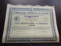 COMPAGNIE CENTRALE DES ETAINS (part Bénéficiaire) - Shareholdings
