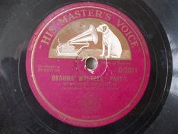 78T - Brahms' Waltzes Par Walter Goehr - 78 Rpm - Gramophone Records