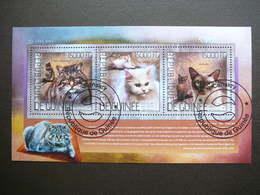 Cats. Katzen. Chats  # Guinea # 2014 Used S/s # Domestic Cats - Chats Domestiques