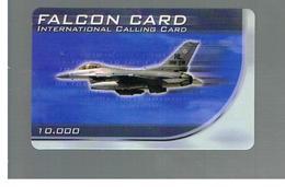 ITALIA (ITALY) - REMOTE -  FALCON CARD - PLANE 10.000    - USED - RIF. 10942 - Italy