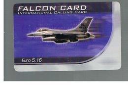 ITALIA (ITALY) - REMOTE -  FALCON CARD - PLANE  5,16 EURO     - USED - RIF. 10943 - Italy
