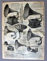 Journal 1908 VEYRET à Lyon Grossiste Lunettes Auto,jumelles, Photos,montres,pathéphones,baromètres, Folding, Gramophones - Publicités