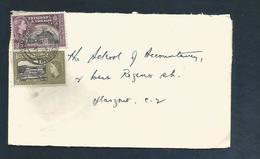 TRINIDAD ET TOBAGO COLONIE ANGLAISE 1956 AFFRANCHISSEMENT COMPOSE SUR LETTRE DE SAN FERNANDO POUR L'ECOSSE - Trinidad Y Tobago