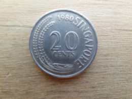 Singapour  20  Cents  1980  Km  4 - Singapour