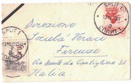 QS22   Yugoslavia, 1965 Cover To Firenze - Postmark Split 1,  Mi.1134 - Mi.1132 - Covers & Documents