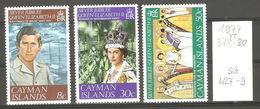 Caimans, Année 1977,Jubilé Du Mariage De La Reine E II - Iles Caïmans