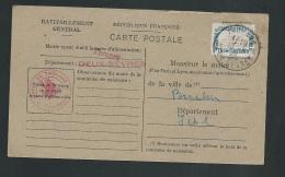 Carte De Ravitaillement Général , Cachet Mairie De Thouars  ( Dpt 79 )   Pa 14218 - Marcofilie (Brieven)
