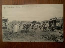Congo Belge KATANGA  Elisabethville   Arrivée D' Un  Train    1921 - Congo Belge - Autres