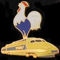 TGV JAUNE - COQ FRANCAIS - TRAIN - DOUBLE MOULE - BALLARD   - (ROSE) - TGV