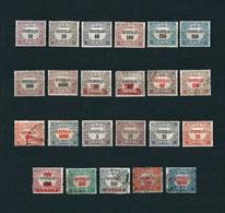 UNGHERIA 1921-23 - Dienstmarken - 19 Valori - Michel D1-27 - Servizio