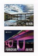 Faroe Islands - 2018 - Europa CEPT - Bridges - Mint Self-adhesive Booklet Stamp Set - Faeroër