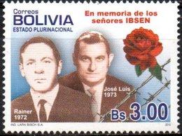 Bolivia 2010 ** Rainer Y José Luis Ibsen; Mártires De La Dictadura. Rosas. See - Bolivie