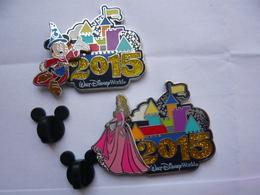 2 Big Pin S Disney Double Moule 4,5 X 3,5 Cm Neuf - Disney