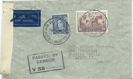 Airmail Cover, Censored, To Hungary, 1940 - 1937-52 George VI