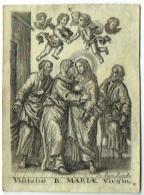 Ancienne Image Pieuse. Jo. Van Sande. Visitatio B.Mariae Virgin. - Devotion Images