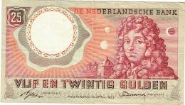De Nederlandsche Bank. Vijf En Twintig Gulden. 25 Gulden. 10 April 1955. - [2] 1815-… : Kingdom Of The Netherlands